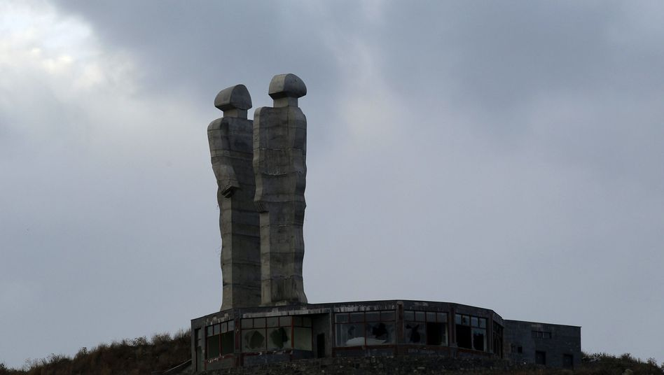 "The peace monument by Turkish sculptor Mehmet Aksoy has caused a row after Prime Minister Erdogan branded it ""monstrous"" and called for its demolition."