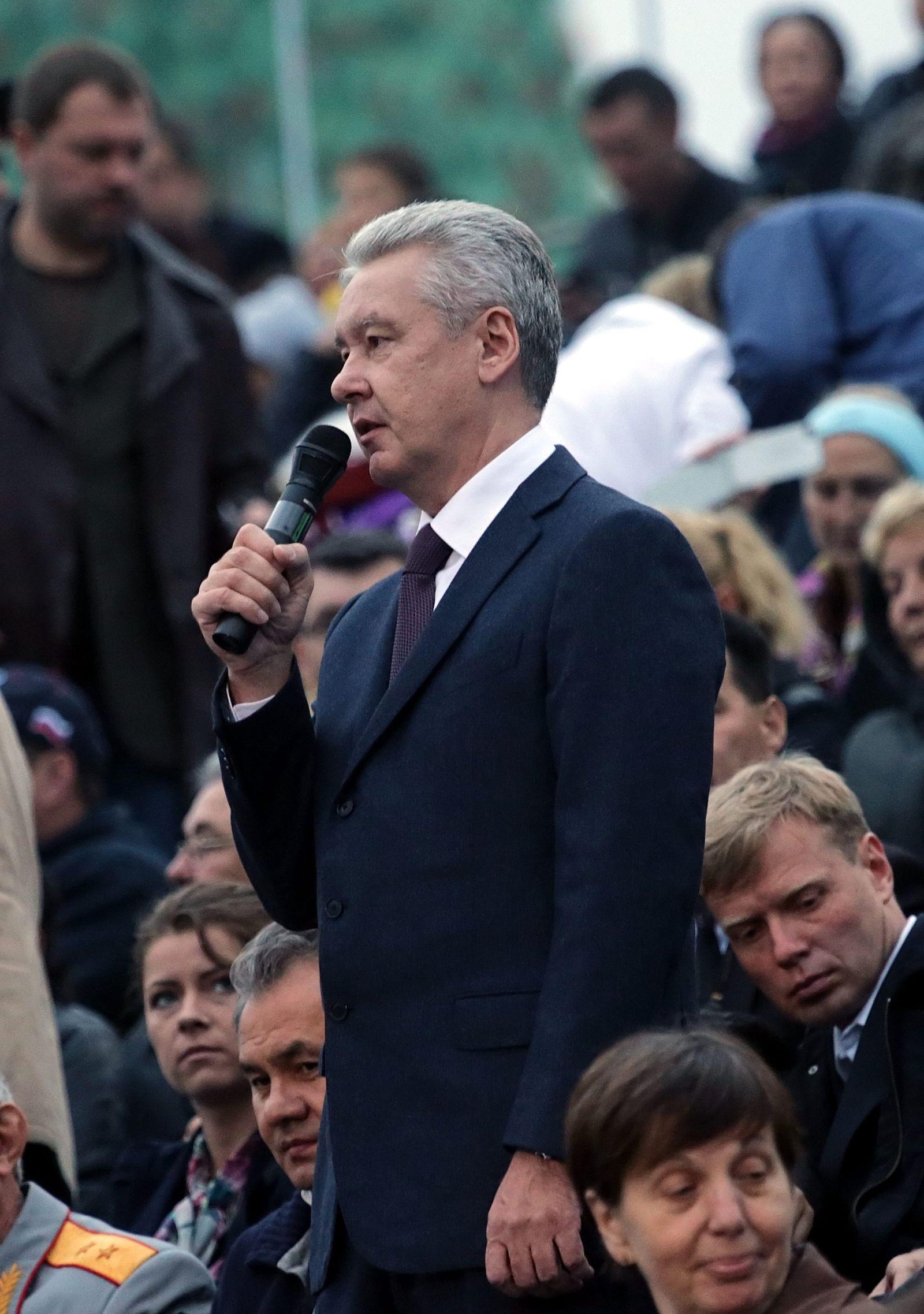 Acting Moscow Mayor and mayoral candidate Sergei Sobyanin