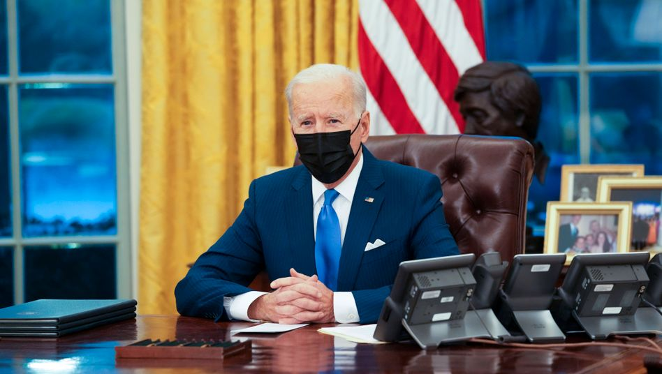 Joe Biden im Oval Office (Archivbild)
