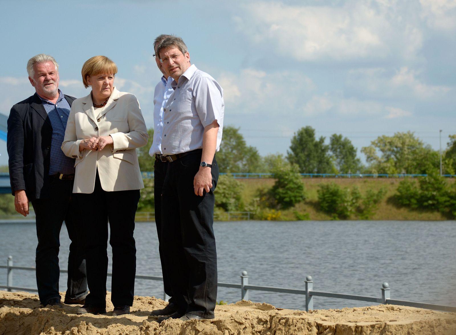 Merkel / Hochwasser