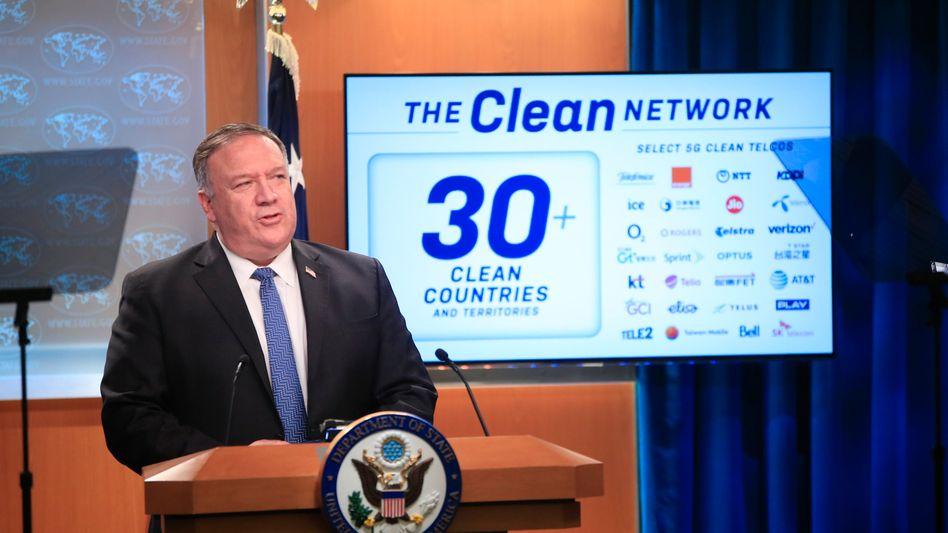 "US-Außenminister Mike Pompeo fordert ein ""clean network"""