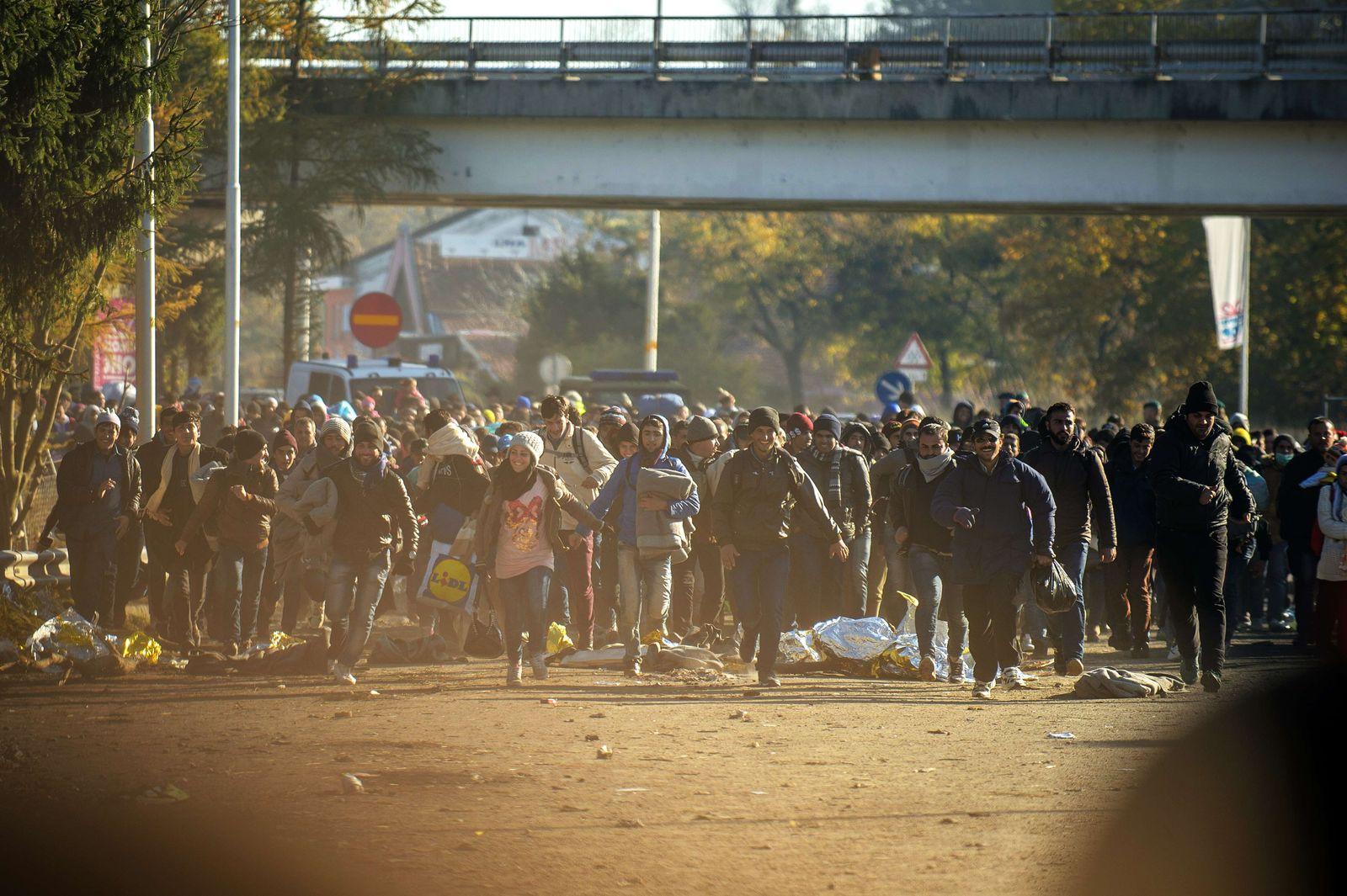 Österreich/ Slowenien/ Grenze/ Flüchtlinge