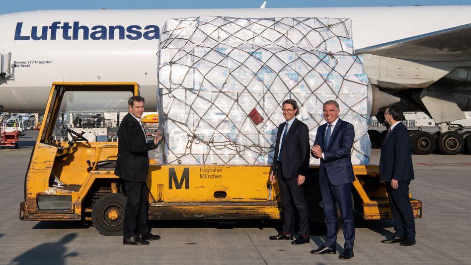 Markus Söder, Andreas Scheuer und Carsten Spohr