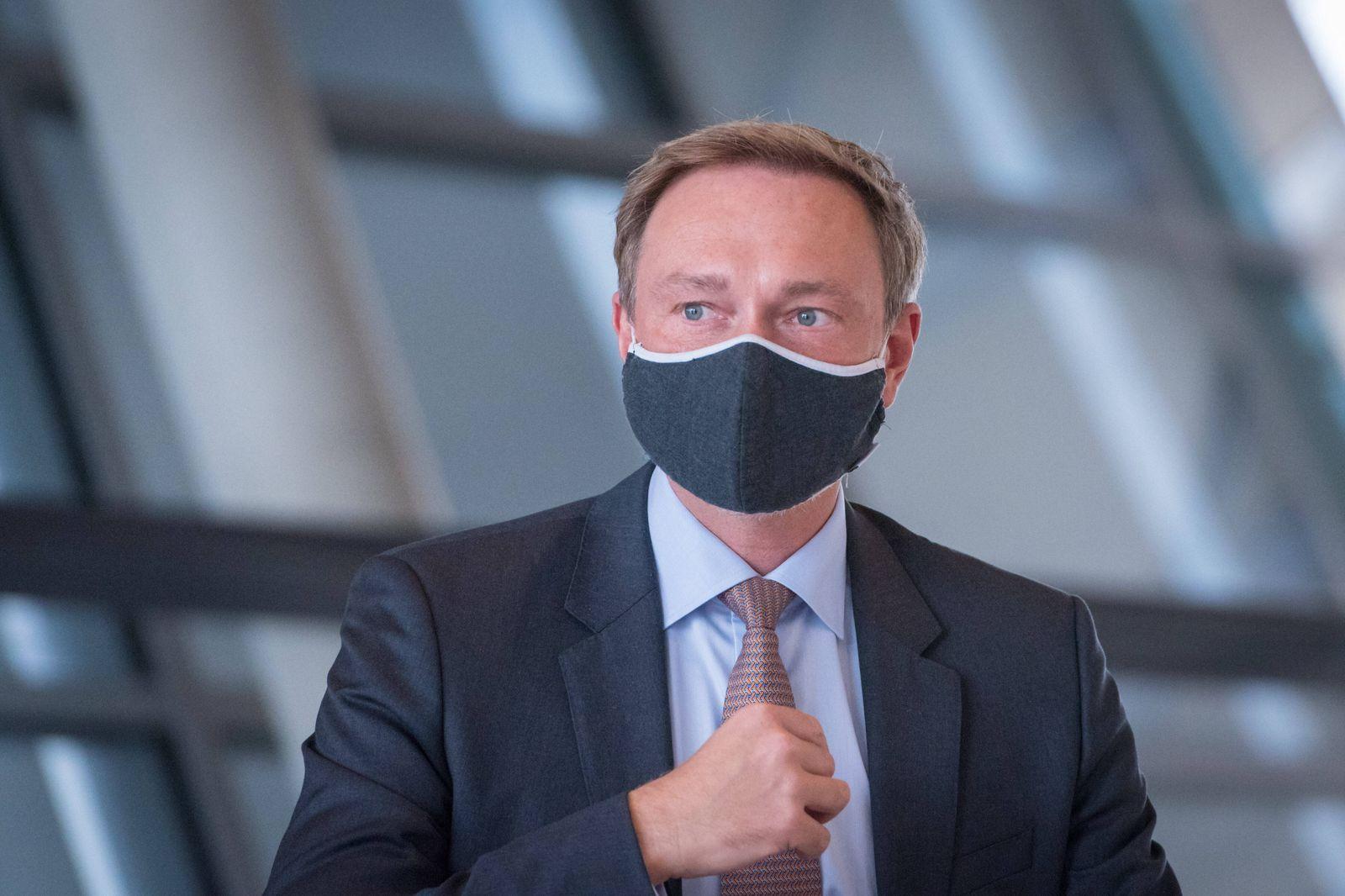 Berlin, Pressekonferenz der FDP Fraktion Deutschland, Berlin - 06.10.2020: Im Bild ist Christian Lindner (Bundesvorsitz
