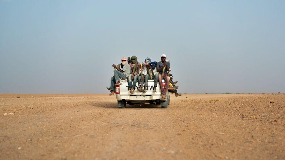 Flüchtlinge an der Grenze zwischen Niger und Libyen
