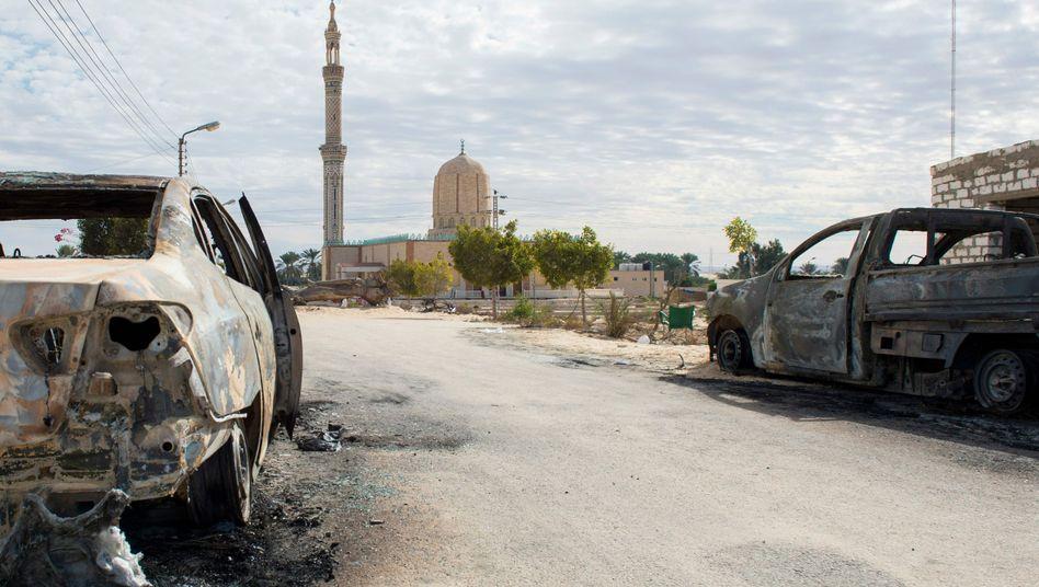 Von Islamisten attackierte Moschee in Rawda, Nordsinai, Ägytpen