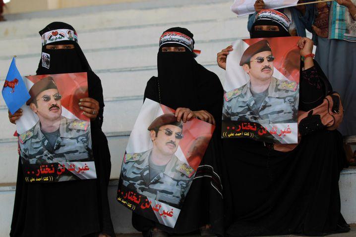 Anhängerinnen von Ahmed Salih in Sanaa: Taktische Allianz mit Huthis