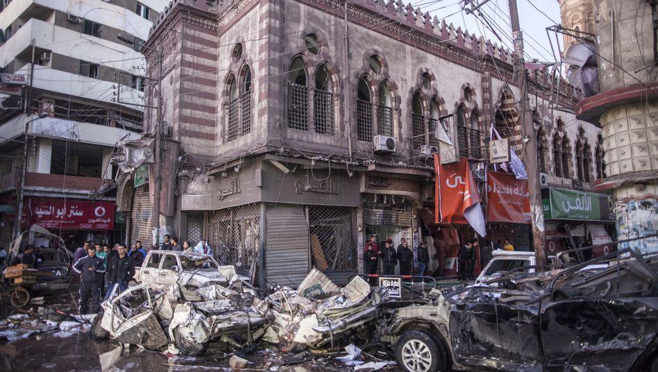 """Mansura im Nil-Delta nach dem Anschlag am 24. Dezember: """"Hässliches Verbrechen"""""""