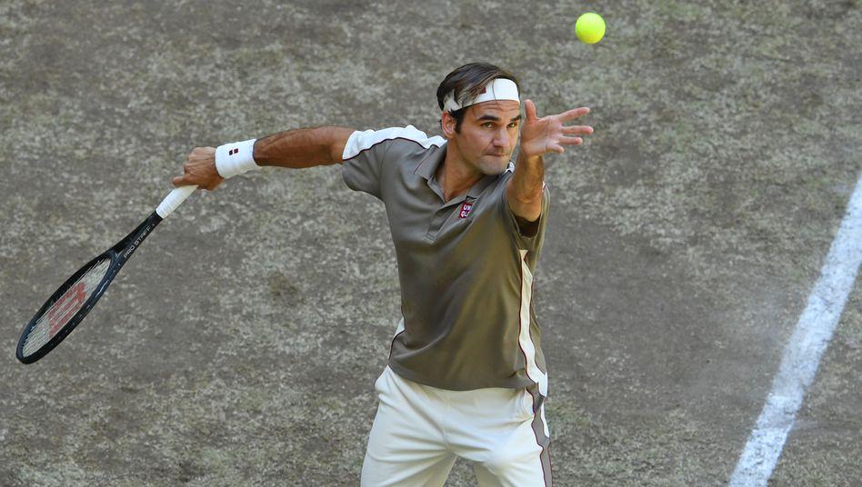Roger Federer, der Rekordmann von Halle