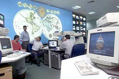Al-Jazeera headquarters in the Qatari capital of Doha.