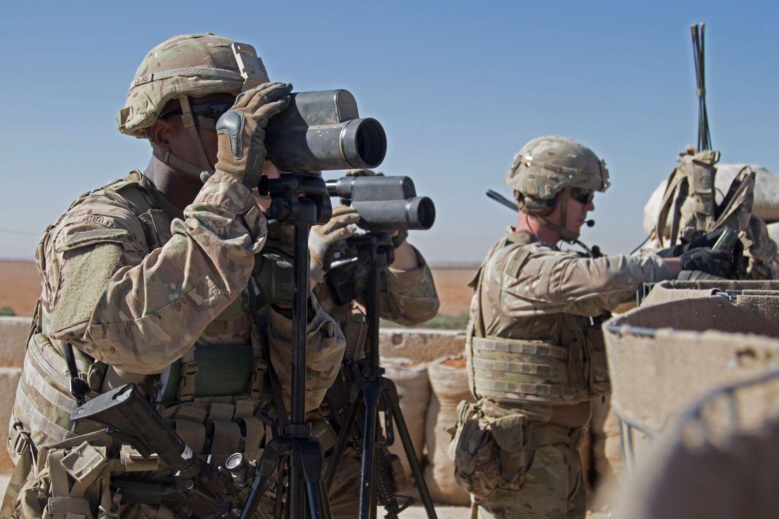 US Truppen/ Soldaten/ Militär/ Camp/ Manbidsch/ Manbij