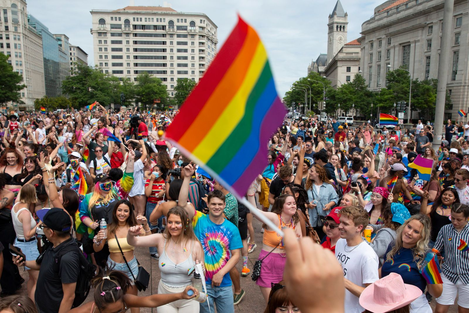 Capital Pride parade and rally to celebrate the LGBTQ+ community in Washington, DC