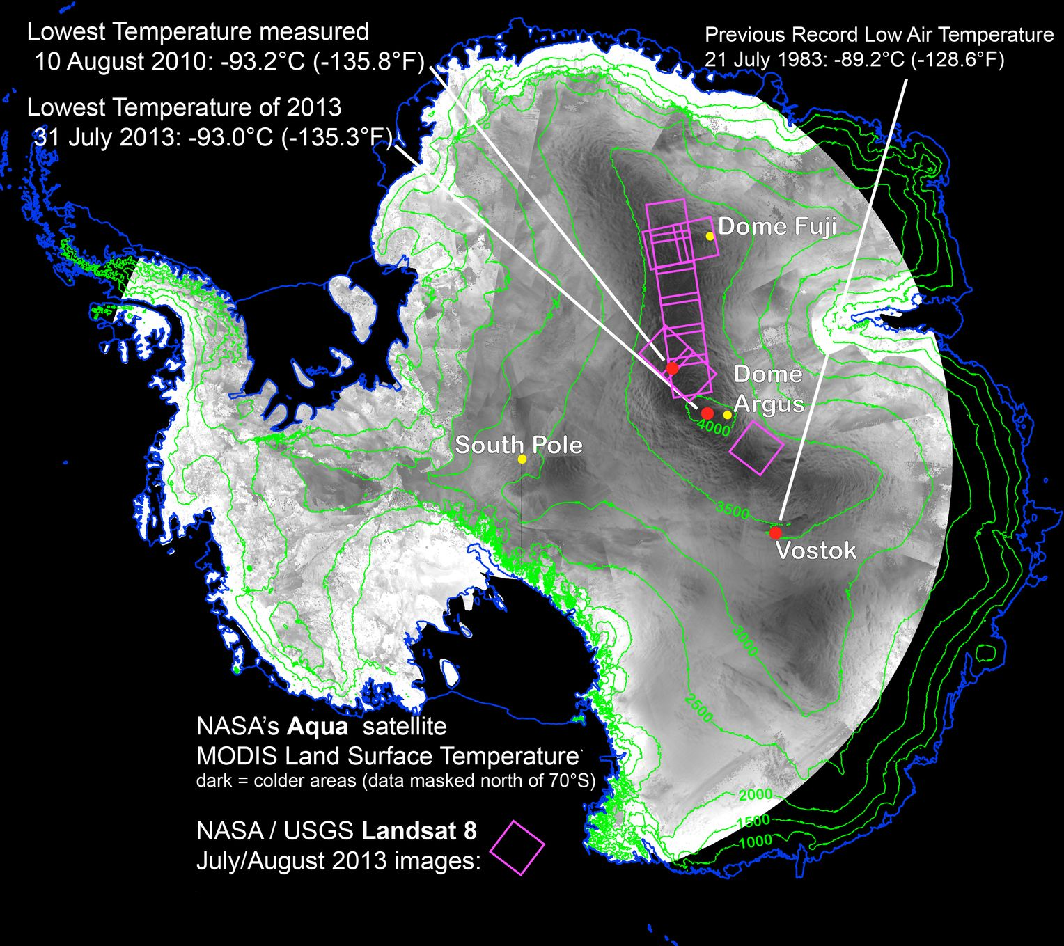 Kälterekord Antarktis