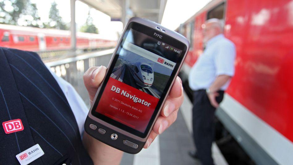 """App """"DB Navigator"""": Viele Angebote sind laut Stiftung Warentest umständlich"""