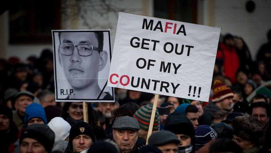 Demo nach der Ermordung von Ján Kuciak und seiner Verlobten
