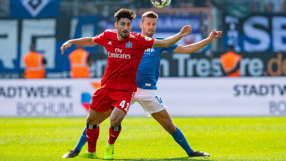 Torloses Remis: Hamburgs Berkay Özcan (l.) und Bochums Tom Weilandt