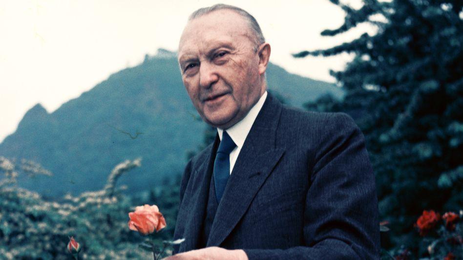 Konrad Adenauer um 1950: Ein Vorbild für die Kanzlerin?