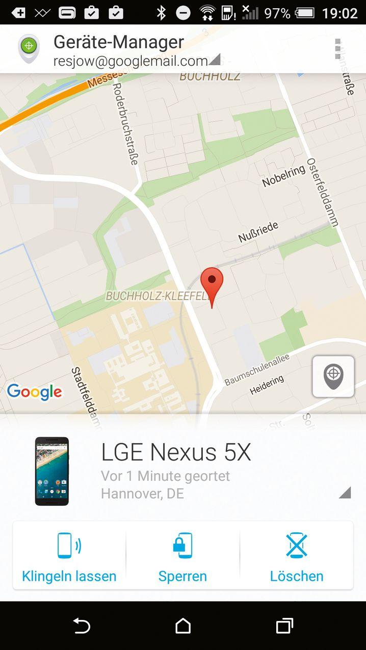 Blick in den Gerätemanager: Auf der Suche nach dem Smartphone