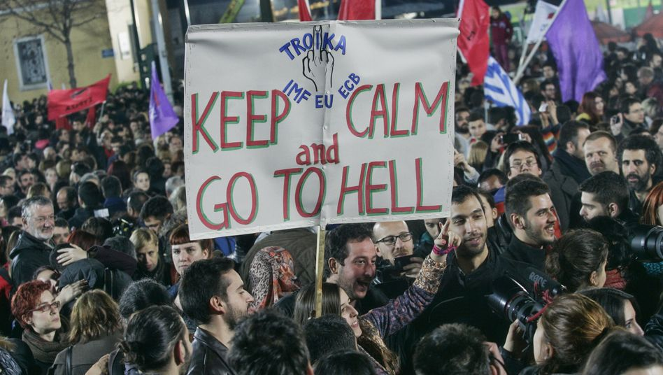 Syriza supporters at a rally just before the leftist party won Greek elections a week ago.