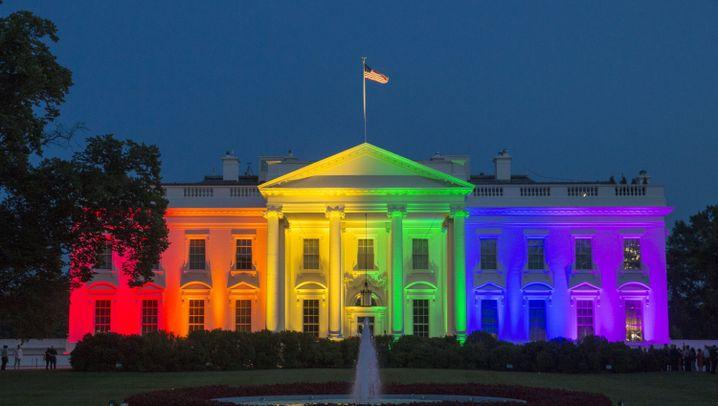 USA erlauben Homo-Ehe: Das Weiße Haus als Villa Kunterbunt