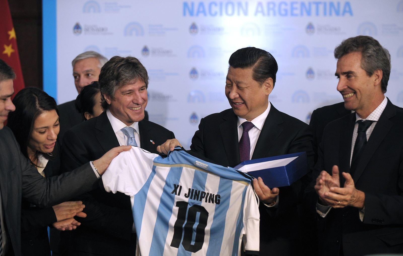 Xi Jinping/ Amado Boudou/ Fussball