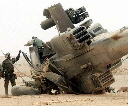 Abgeschossener Apache-Hubschrauber: Doppelter Hinterhalt