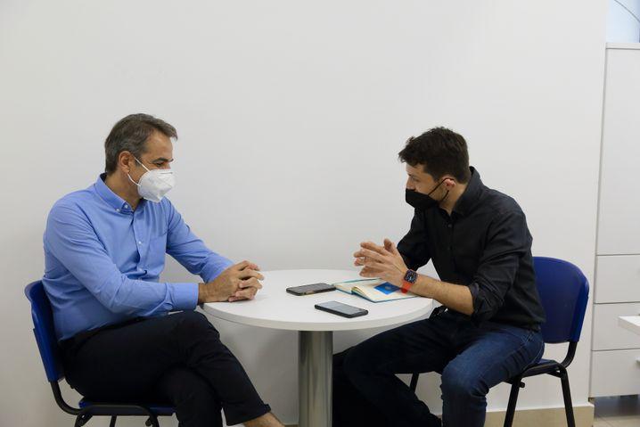 »Griechenland ist heute ein sicheres Land«: Premierminister Mitsotakis im Gespräch mit dem SPIEGEL bei einem Besuch in Ioannina im Juni 2021