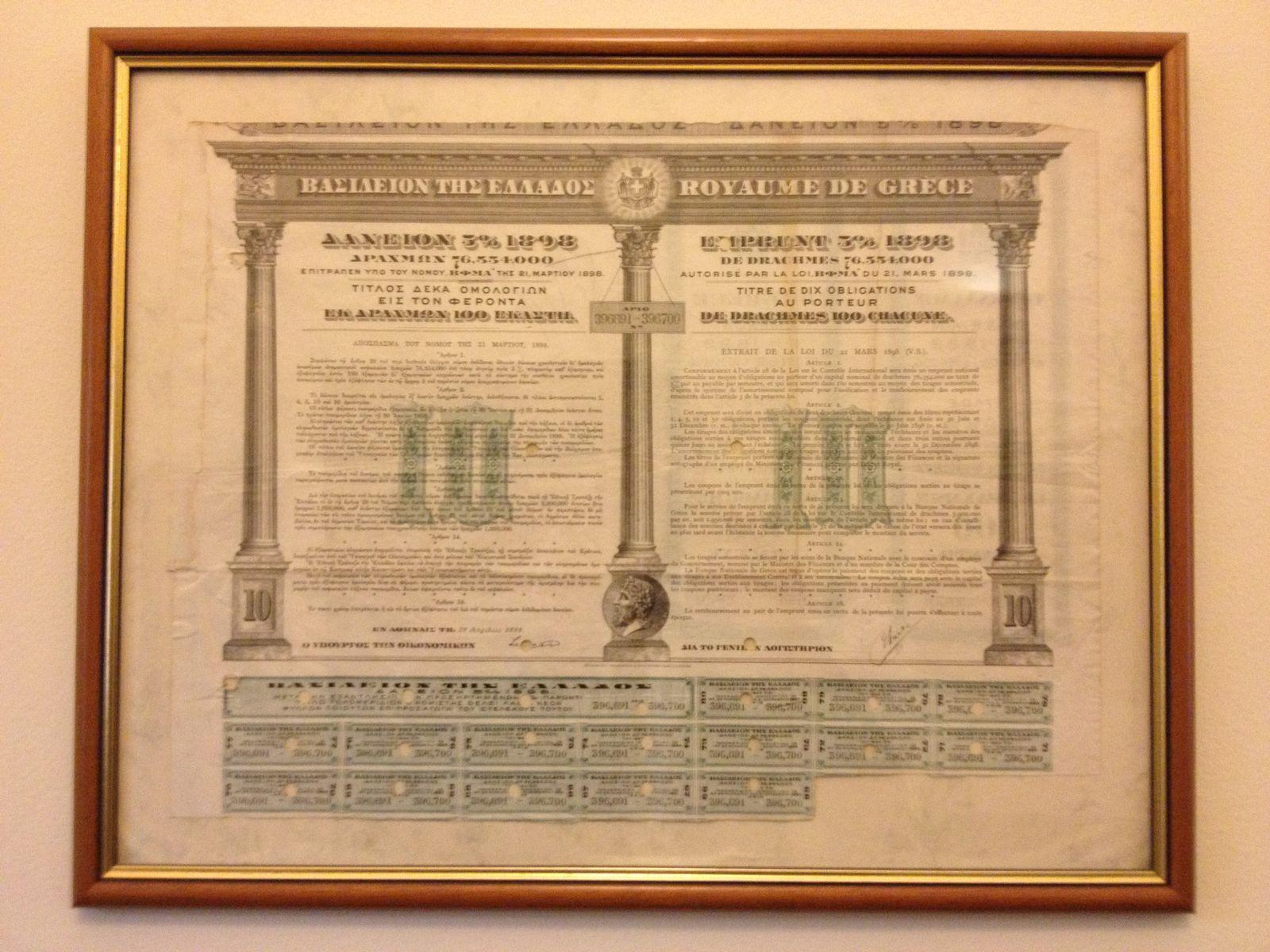 Griechenland / historische Anleihe