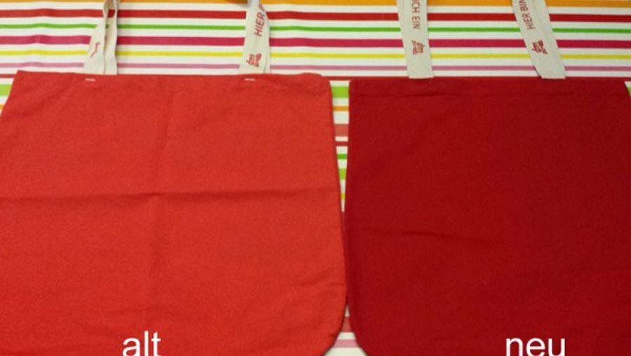 Nicht dieselbe: Dm-Taschen aus Augsburg (l.) und Indien