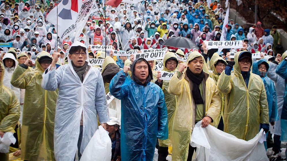 Südkorea: Journalisten im Ausstand