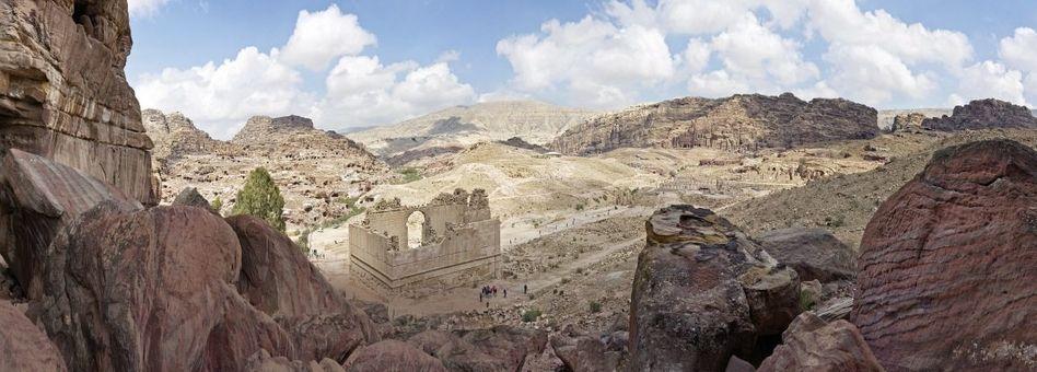 Tempel im Talkessel von Petra