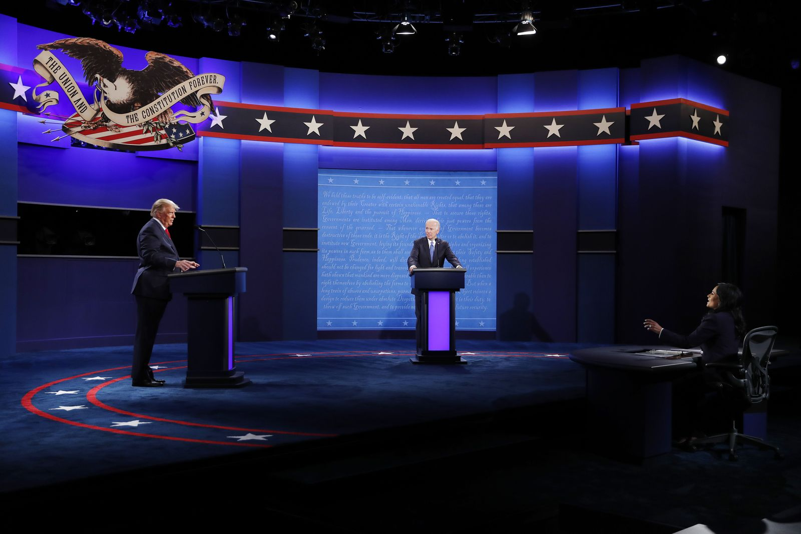 Final presidential debate between US President Donald J. Trump and Democratic candidate Joe Biden at Belmont University, Nashville, USA - 22 Oct 2020