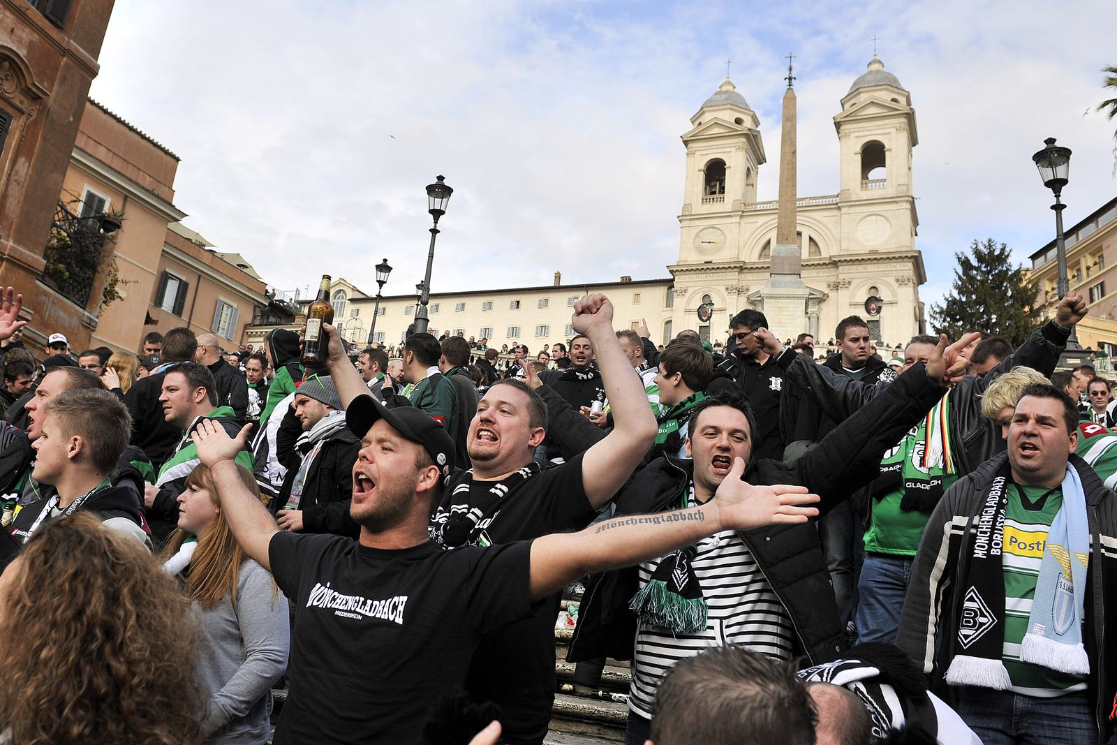 Gladbach-Fans in Rom