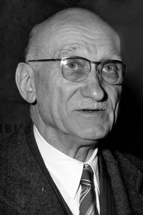 Robert Schuman im Februar 1958