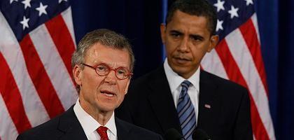 Tom Daschle und Barack Obama: Probleme im Senat