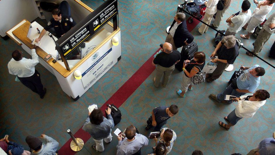 Einreisekontrolle an US-Flughafen