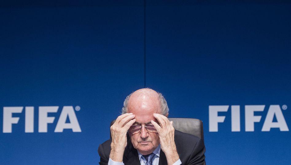 Fifa-Wahlkämpfer Blatter: Sinnieren über eine bessere Welt