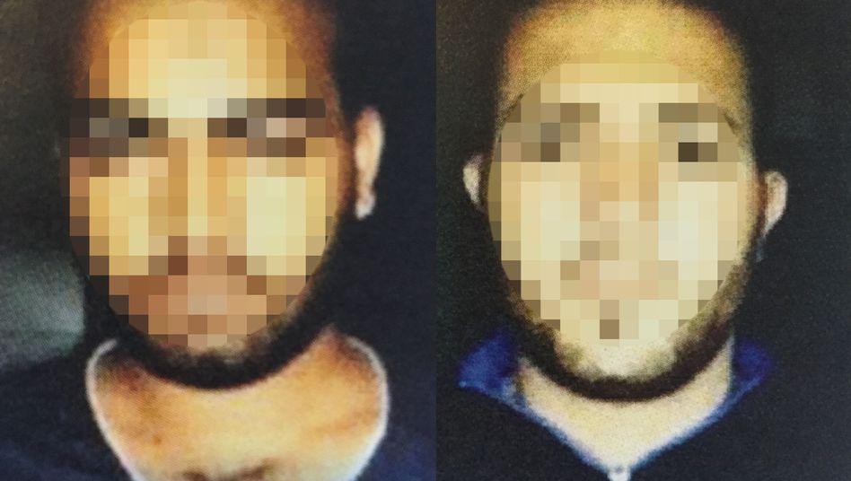 Terrorverdächtige Mohammad G. O. (l.) und Adel H.: Enttarnt vom Verfassungsschutz