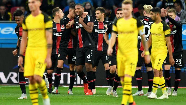 Dortmunds Aufholjagd in Leverkusen: Vier gewinnt