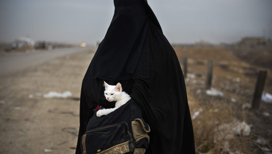 Geflüchtete Frau im Irak