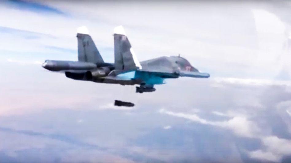 Russischer Bomber in Syrien: Die Feuerpause gilt nicht für Kampf gegen IS