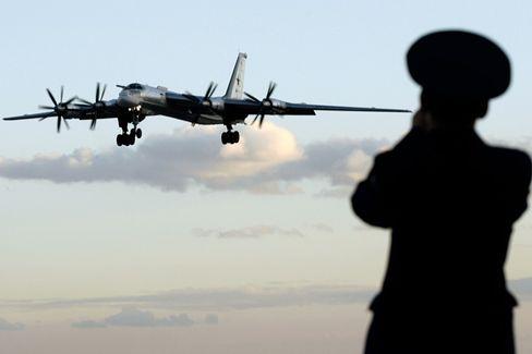 Russischer Tu-95 Bomber: Arsenal des Kalten Krieges
