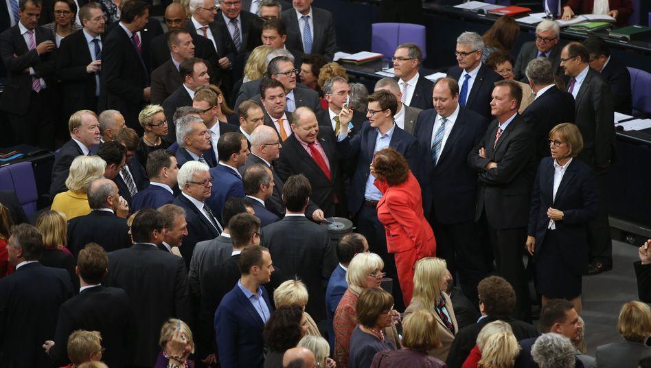 Mitglieder des Bundestags bei der Abstimmung: 475 votierten dafür
