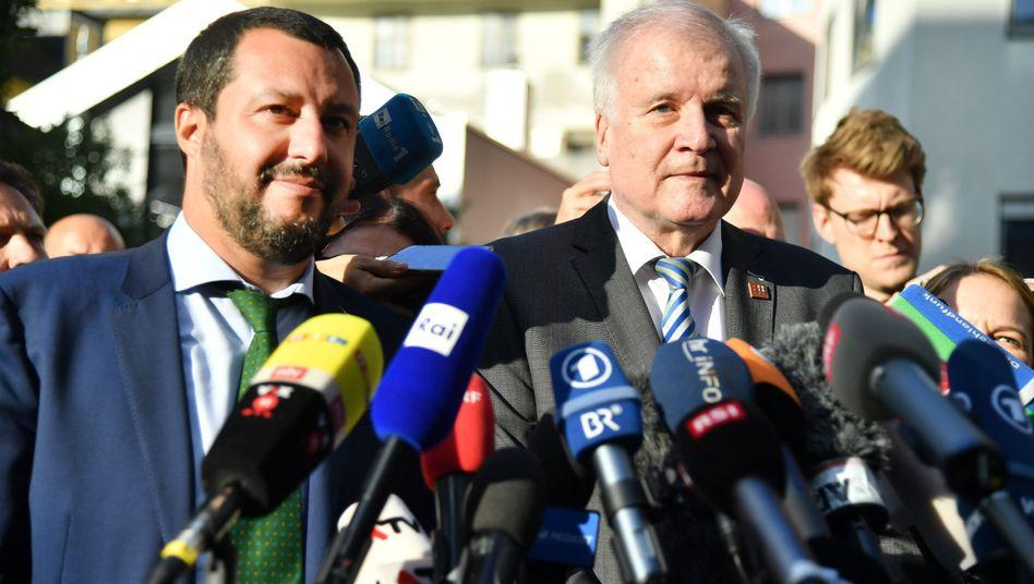 Matteo Salvini und Horst Seehofer