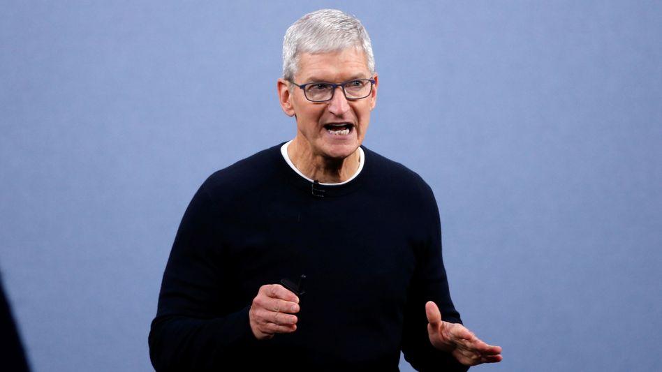 Apple-Chef Tim Cook: Unmut hervorgerufen
