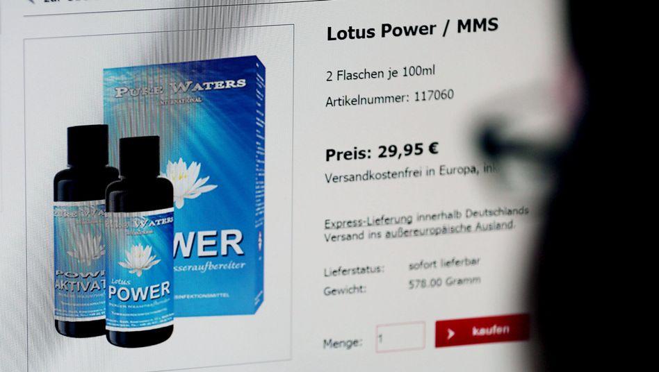 Shop für MMS-Produkte: Das Bundesinstitut für Arzneimittel und Medizinprodukte warnt vor schweren Schäden