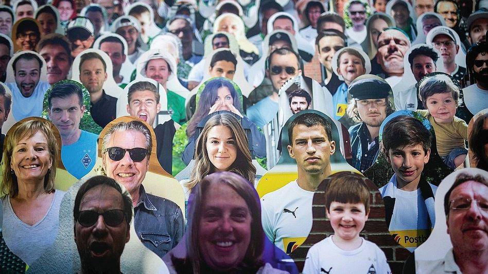 Pappfiguren in Mönchengladbacher Stadion: Sehnsucht nach Stimmung