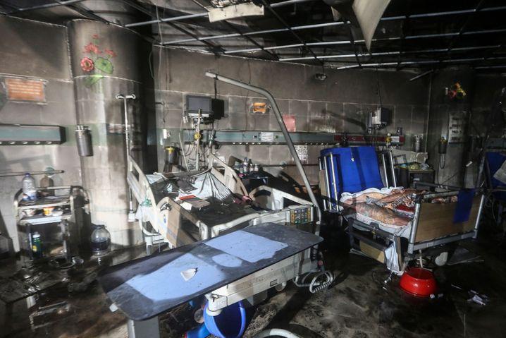 Die Coron-Intensivstation in Dhaka nach dem Brand
