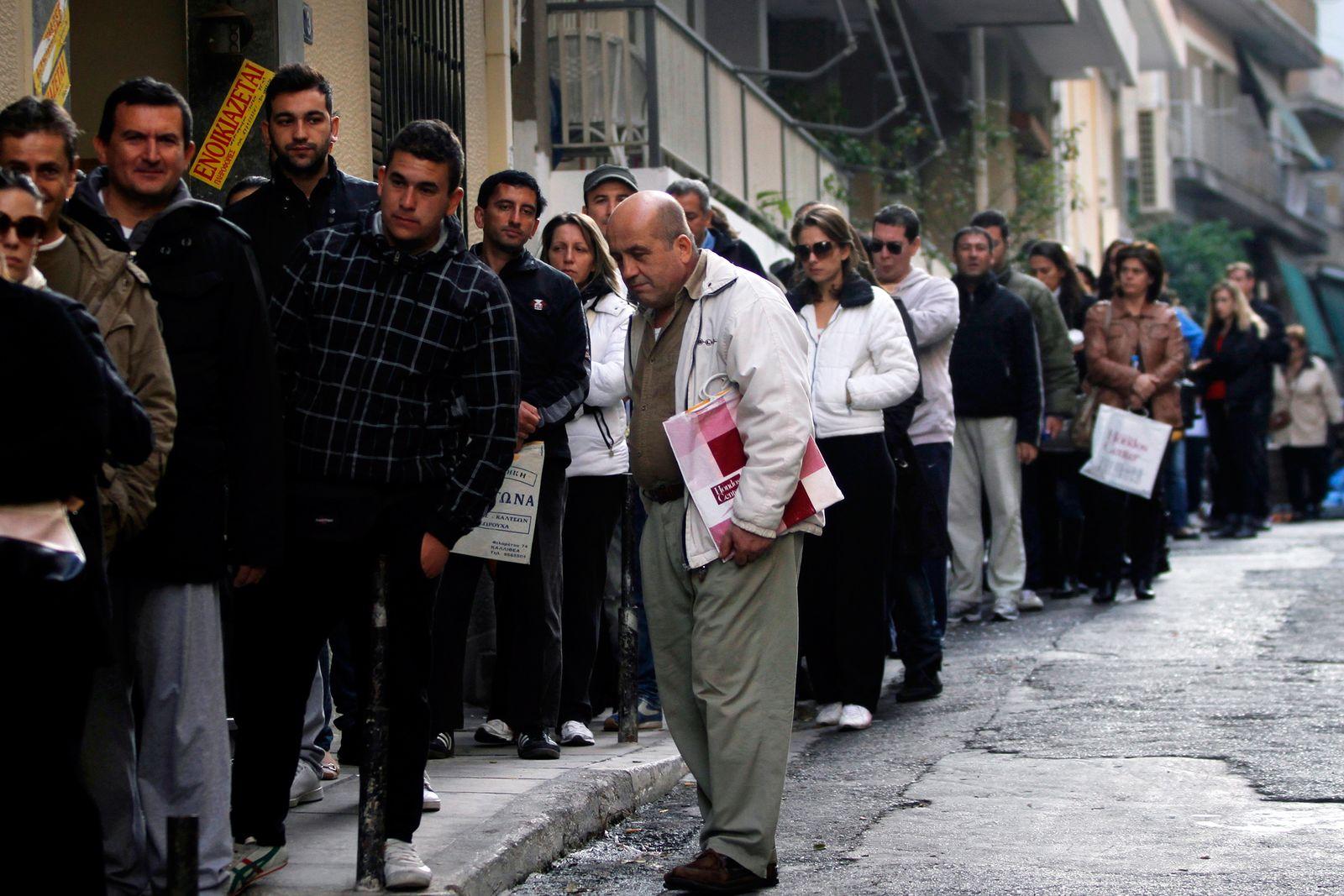 Griechenland / Finanzkrise / Arbeitslose / Arbeitslosigkeit