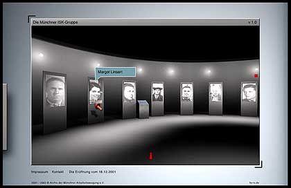 ...die Ausstellunghalle, wo man Exponate ansehen kann...